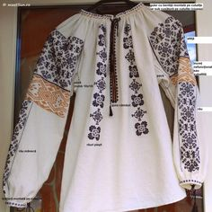 Kimono Top, Romania, Tops, Women, Fashion, Embroidery, Moda, Fashion Styles, Fashion Illustrations