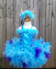Hand crafted sully Tu-Tu costume with horns