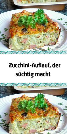 Zucchini casserole that is addictive - Rezepte Crockpot Recipes, Soup Recipes, Chicken Recipes, Healthy Recipes, Vegetarian Recipes, Easy Dinner Recipes, Easy Meals, Zucchini Casserole, Zucchini Lasagna