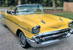 Yellow 1957 Chevy Convertible-   SealingsAndExpungements.com 888-9-EXPUNGE (888-939-7864) 24/7 Free evaluation/Low money down/easy payments 'Seal past mistakes. Open new opportunities.'
