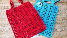 Crochet Cotton Macrame Rope and Beaded Handled Rectangle Lady's Bag Recipe. Nadire lady told me about the construction of the Crochet Oval Bag last Crochet Handbags, Crochet Purses, Crochet Market Bag, Crochet Shell Stitch, Crochet Videos, Knitted Bags, Diy Crochet, Crochet Projects, Purses And Bags
