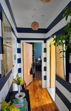 Harlem Apartment - Hall - would be cute in a pastel like teal or salmon