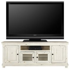 """Willow White 74"""" TV Stand"""