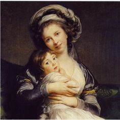 Marie Louise Elisabeth Vigée-Lebrun, - Self-Portrait in a Turban with Her Child