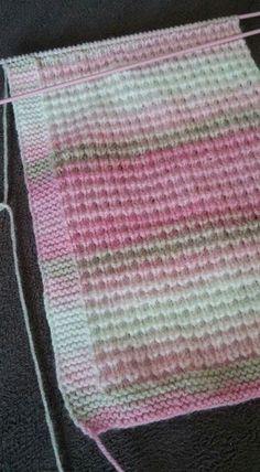 Örecegim inşallah - Her Crochet Baby Knitting Patterns, Knitting Stitches, Knitting Designs, Stitch Patterns, Blanket Patterns, Gilet Crochet, Baby Pullover, Knitted Baby Blankets, Easy Knitting