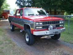 K30 Crew Cab with warn winch and winch bumper. Needs bigger tires