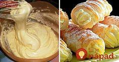 Vynikajúci do krémešov, trubičiek, laskoniek alebo iných dezertov na slávnostný stôl. Sweet Desserts, Sweet Recipes, Czech Recipes, Pavlova, Graham Crackers, Christmas Baking, Nutella, Icing, Peanut Butter