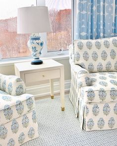 """Robyn Rider on Instagram: """"master bedroom reading nook at our penthouse project #robynmadelineinteriors"""" Coastal Cottage, Reading Nook, Cottage Style, Seaside Cottages, Master Bedroom, Accent Chairs, Interior, Projects, House"""