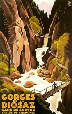 Fantastic A4 Glossy Print - 'Gorges De La Diosaz' - Taken From A Rare Vintage Travel Poster (Vintage Travel / Transport Posters) by Unknown http://www.amazon.co.uk/dp/B006LWFF0Q/ref=cm_sw_r_pi_dp_M7movb03D9BJ9