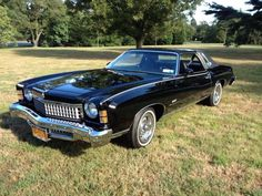 1974 Chevy Monte Carlo 70s Cars, Cars Usa, Vintage Cars, Antique Cars, Move Car, Camaro Car, Chevy Girl, Chevrolet Monte Carlo, American Muscle Cars