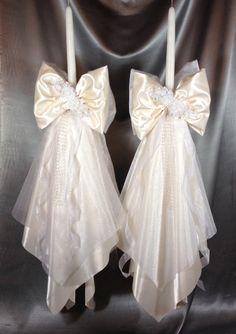 GREEK WEDDING CANDLES, LAMBATHA, lambathes, greek