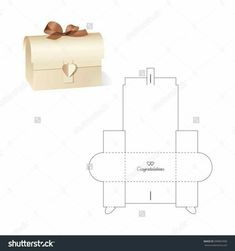 ~ Retail Box With Blueprint Template Stock Vector Illustration 389803996 : Shutterstock Paper Gift Box, Diy Gift Box, Diy Box, Paper Gifts, Diy Paper, Diy Gifts, Craft Gifts, Paper Art, Paper Box Template