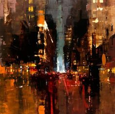 """NYC #19, oil on panel, 30 x 30 inches, all images via Jeremy Mann"
