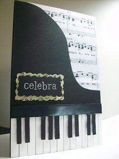 Yoye Cool Cards Piano Musical Instruments Techno Birthday Cardmaking