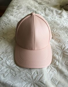 ebd99b203c6df Light Pink Leather Hat - Mercari  The Selling App