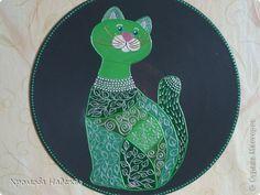 Декор предметов Роспись Кошечки  Диски виниловые Краска фото 1