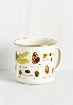 Insect-or Gadget Mug. Sure, this ivory mug is great for sipping something steamy, but its utility doesnt end there! #multi #modcloth