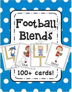 Football Blends from Pioneer Teacher on TeachersNotebook.com -  (54 pages)  - Football Blends Center Activity