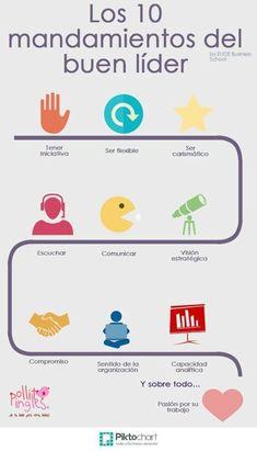 10 mandamientos del buen líder #infografia #infographic #leadership vía @EUDEbusiness
