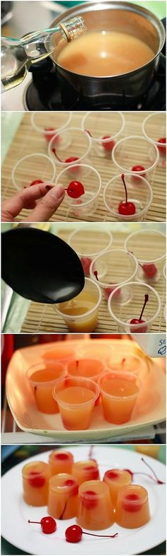 Choose-Diy: Pineapple Upside Down Cake Jello Shots