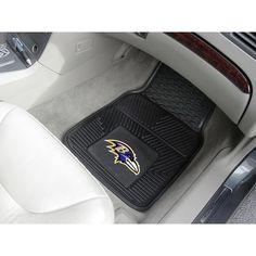 Baltimore Ravens NFL Heavy Duty 2-Piece Vinyl Car Mats (18x27)