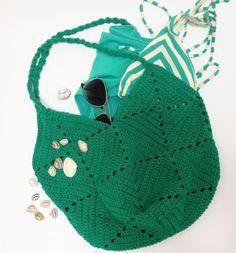 Gratis haakpatroon: strandtas / Free pattern: beach bag
