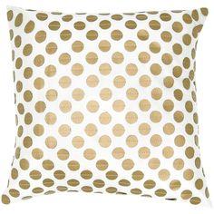 Tamara Pillow - DIY with linen pillow & gold fabric paint?