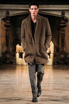 "Love this ""blanket"" coat. Billy Reid Fall-Winter 2014 Men's Collection"