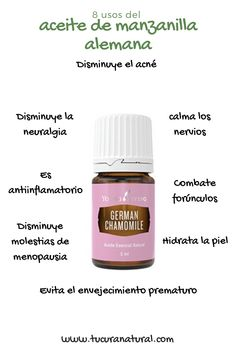 Compra el aceite esencial de manzanilla alemana en nuestra tienda en línea, hacemos envíos a todo México #aceitesesenciales #aromaterapia #tucuranatural Homemade Essential Oils, Doterra Essential Oils, Essential Oil Diffuser, Essential Oil Blends, Young Living Oils, Young Living Essential Oils, Doterra Tea Tree Oil, Aromatherapy Recipes, Yl Oils