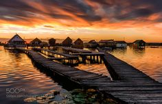 Bokod Floating Houses by JeremiaszGdek. Please Like http://fb.me/go4photos and Follow @go4fotos Thank You. :-)