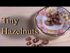 Tiny Miniature Hazelnuts - Polymer Clay Tutorial - YouTube