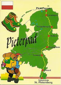 The Pieterpad is a hiking trail. The trail runs 485 kilometres (301 mi) from Pieterburen, in the northern part of Groningen, south through the eastern part of the Netherlands to end just south of Maastricht,