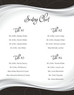 A classic-looking seating chart by Designs of Perfection http://weddingshows.com