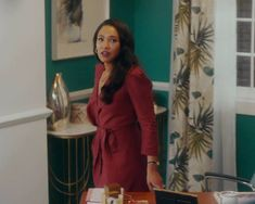 Iris West Allen, Candice Patton, The Flash, Boss Lady, Wrap Dress, Dresses With Sleeves, Outfits, Instagram, Fashion