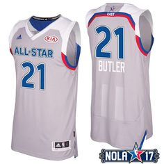 a208ec714 2017 NBA All-Star Bulls Jimmy Butler  21 Eastern Conference Gray Jersey  Eastern Conference