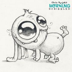 No photo description available. Cute Monsters Drawings, Funny Drawings, Pencil Art Drawings, Kawaii Drawings, Cartoon Drawings, Drawing Sketches, Chibi Kawaii, Tattoo Foto, Monster Drawing