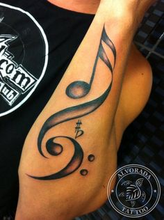 Music Tattoo by Jéssica Paixão