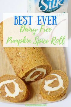 Try this Best Ever Dairy Free Pumpkin Spice Roll! It's the perfect dessert for the holiday season. Grab the recipe.