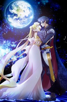 Princess Serenity (Usagi) and Prince Endymion (Mamoru) - Sailor Moon fanart Sailor Moon Crystal, Sailor Moon S, Sailor Mars, Sailor Venus, Princess Serenity, Neo Queen Serenity, Tuxedo Mask, Manga Anime, Princesa Serena