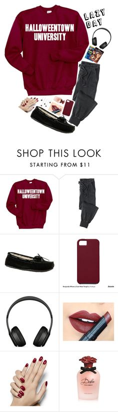 """""""Lazy Day"""" by style-and-chic-boutique ❤ liked on Polyvore featuring Disney, Minnetonka, Case-Mate, Beats by Dr. Dre, Fiebiger and Dolce&Gabbana"""