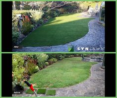Transform your backyard into an area you'll be proud to show off. #synlawn