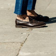 The footwear styles of #Pitti88 #pittiuomo Shot by @naskademini