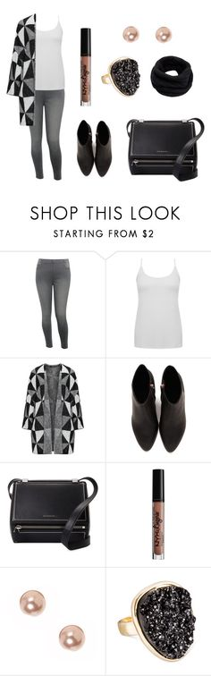 """""""Untitled #355"""" by fashion-with-dudette on Polyvore featuring M&Co, Alexander Wang, Givenchy, NYX, claire's, SUGARFIX by BaubleBar and Helmut Lang"""