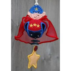 In The Hoop :: Ornaments :: Super Hero Jingler - Embroidery Garden In the Hoop Machine Embroidery Designs