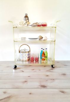 Bar Cart Vintage Lucite Serving Tea Trolley by LUCKYHOMEFINDS