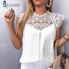 Plus Size Blouses, Plus Size Tops, Summer Blouses, Mode Vintage, Vintage Lace, Ethnic Fashion, Lace Sleeves, Blouses For Women, Ladies Blouses