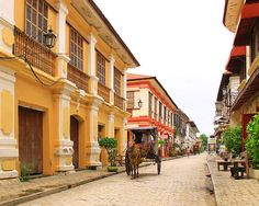 "The city of Vigan in Ilocos Sur is one of the finalists in the Cities campaign, which recognizes places that ""best represent the achievements and aspirations of our global urban civilization."" It is the only Philippine city in the list. Photo from website Vigan Philippines, Philippines Cities, Philippines Culture, Philippines Vacation, Cool Places To Visit, Places To Travel, Travel Destinations, Philippine Architecture, Filipino Culture"