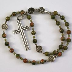 Handmade Anglican Rosary with Centering Prayer by prayerbedes