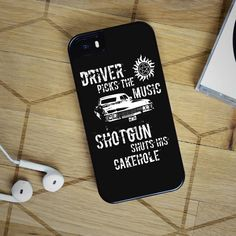 Driver Picks the Music - Supernatural iPhone 6 Case, iPhone 5S Case, iPhone 5C Case + Samsung Galaxy S4 S5 S6 Edge Cases | Free Shipping - Shadeyou - Personalized iPhone and Samsung Cases