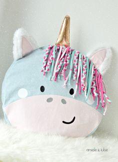 """Ebook Tierkissen """"Einhornbande"""" ♥ inkl. Applikationsvorlagen und Plotterdateien von rosarosa & Paul & Clara  Zaubere zu Weihnachten das perfekte Geschenk für alle Einhornfans! Es wartet eine..."""